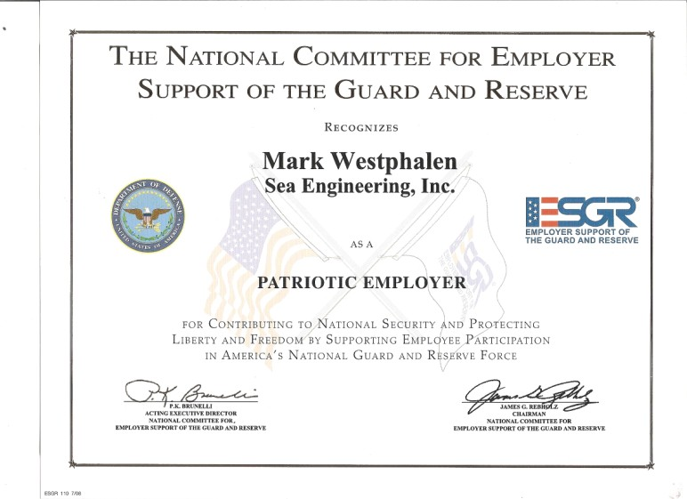 Patriotic Employer award 08.05.10